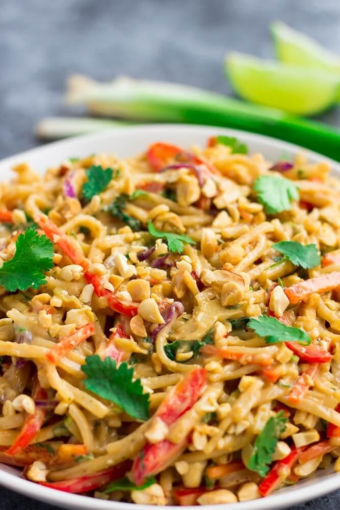 meatless meal monday thai peanut noodle