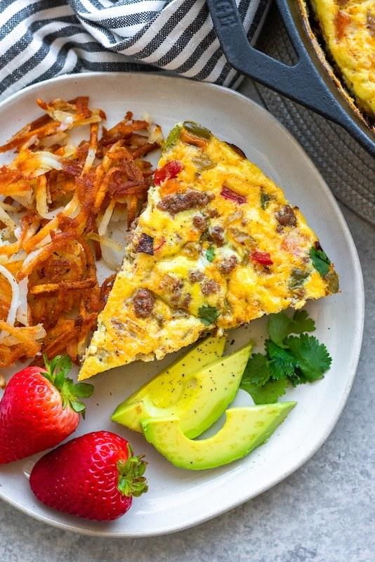 Südwest-Frühstück-Frittata-Gewichtsverlust