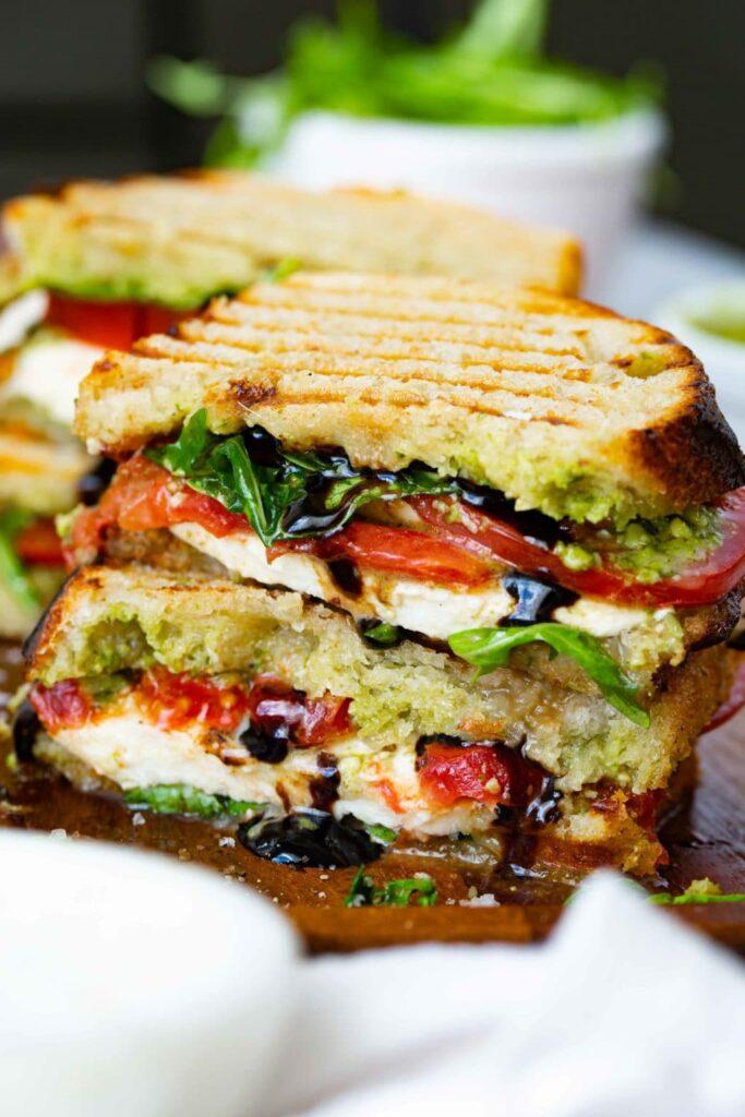 Balsamic-glaze-grilled-caprese-sandwich-recipe