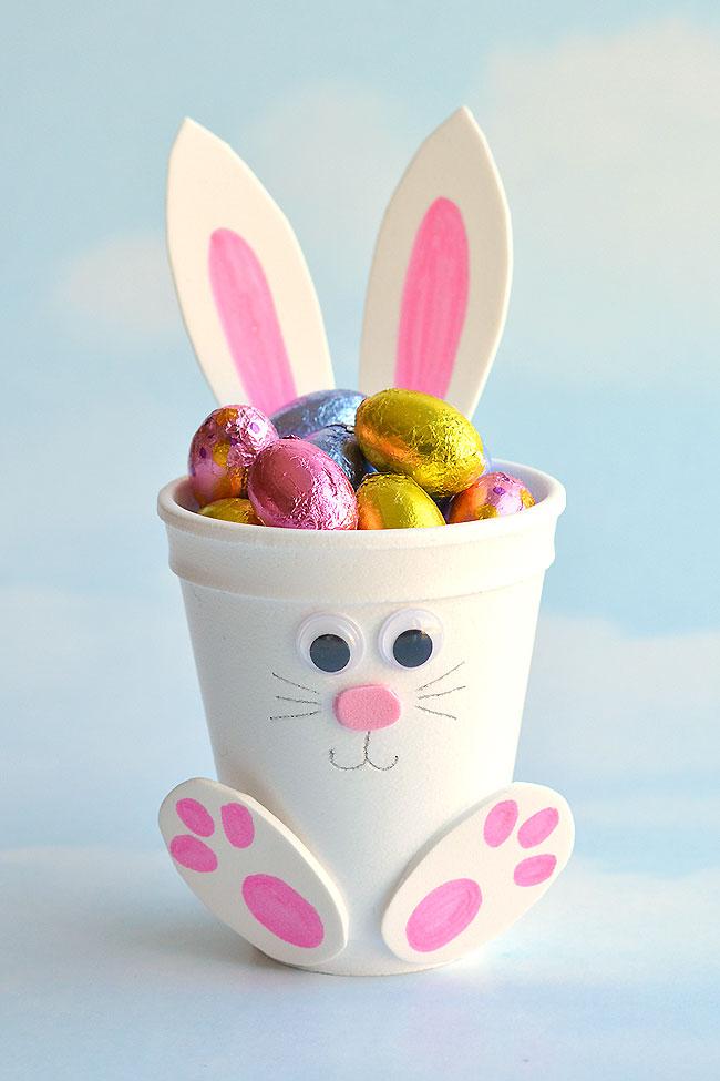 Easter-crafting-foam-cup-bunnies