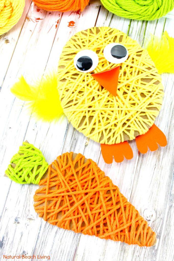 Easy-Garn-Ostern-Bastelarbeiten-für-Kinder