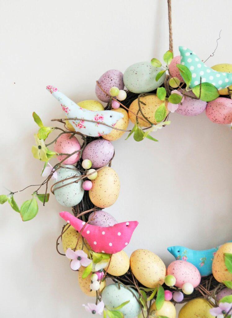Fabric-birds-easter-wreath-2