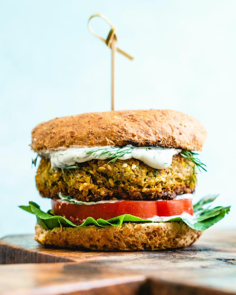 Falafel-burger-vegetarian