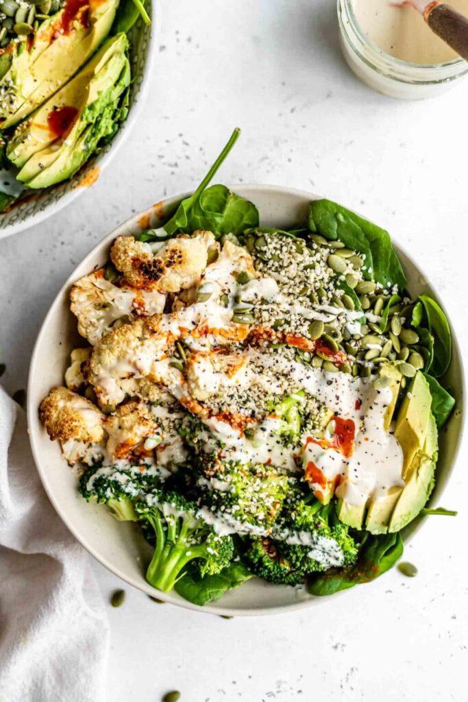 Grain-free-keto-low-carb-cauliflower-buddha-bowl