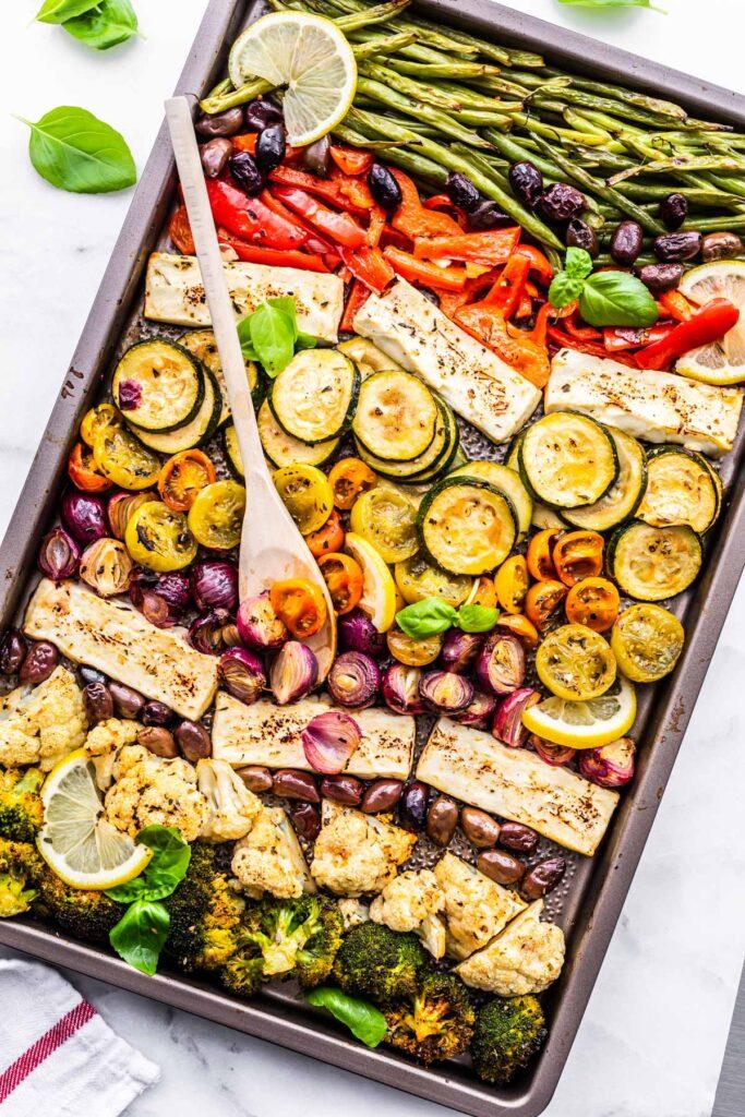 Keto-meal-prep-sheet-pan-greek-vegetables