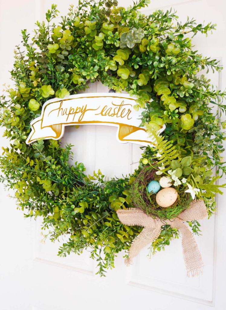 Simple-diy-spring-easter-wreath