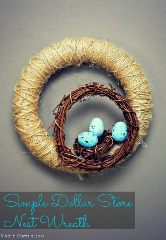 Simple-dollar-store-nest-wreath-craft