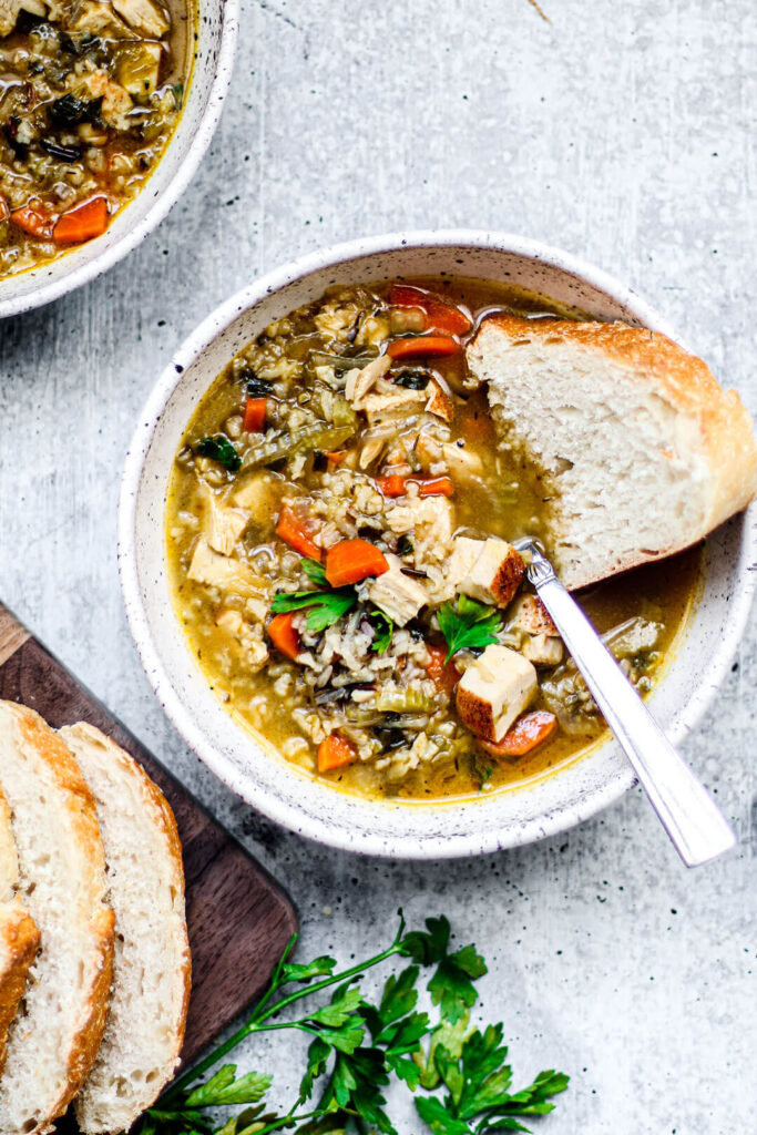 Turkey-and-wild-rice-soup