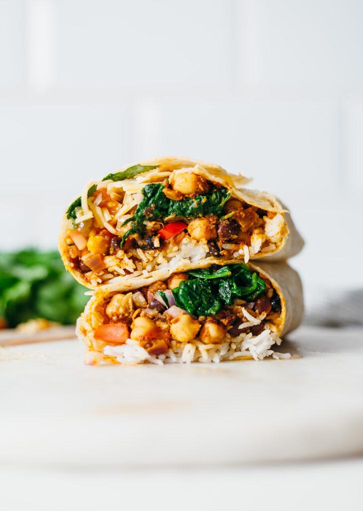 Vegan-indian-chickpea-tikka-burrito