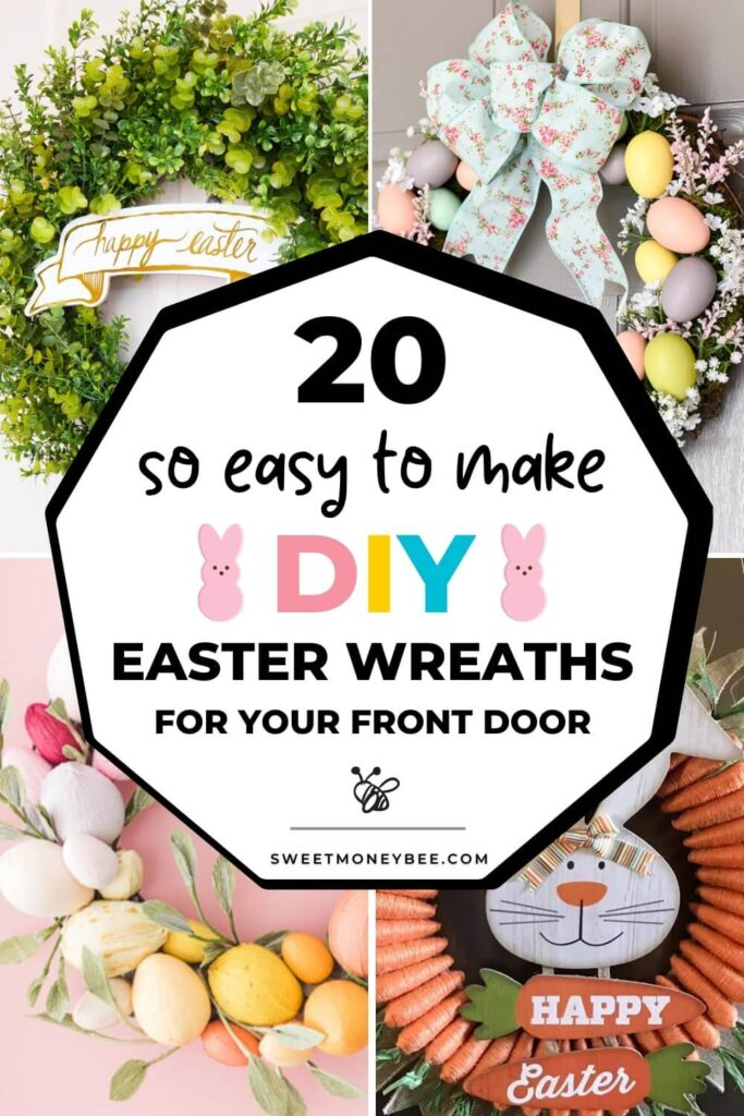 easter wreath diy pinterest