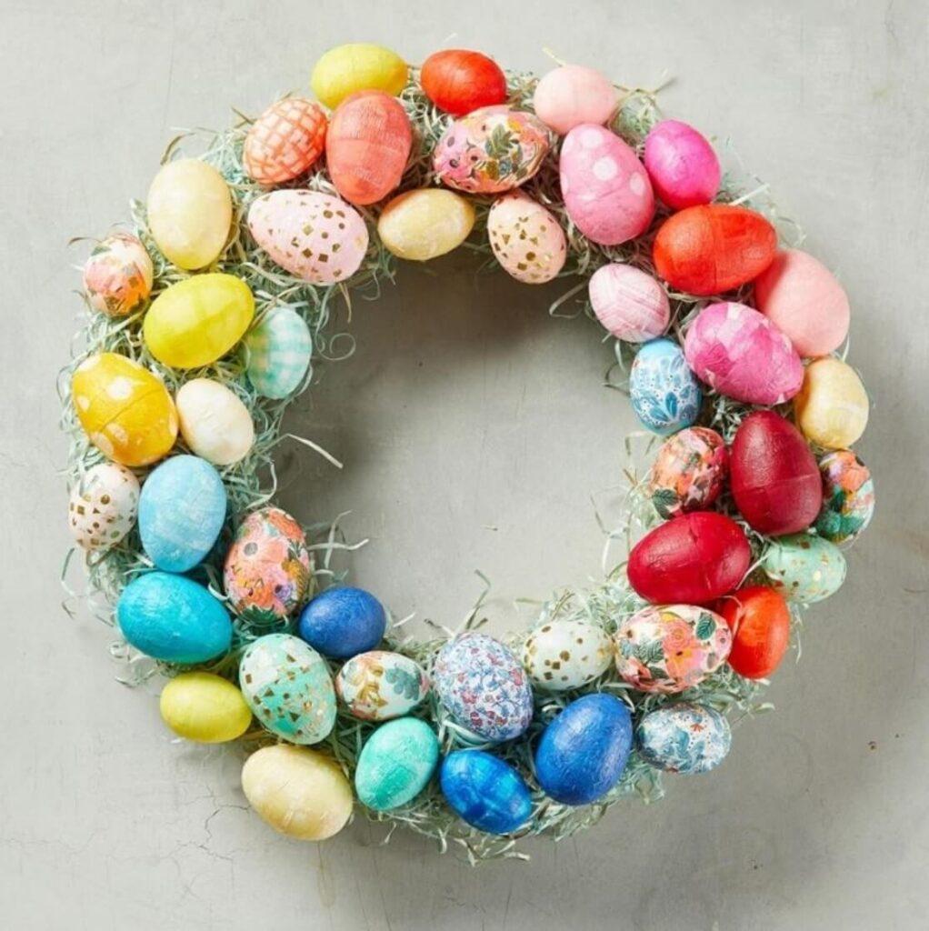 plastic easter wreath