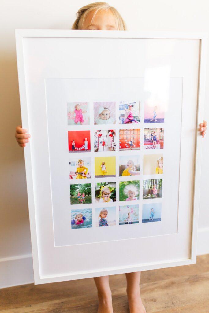 Erwachsene-Bastel-Muttertag-Regenbogen-Fotocollage