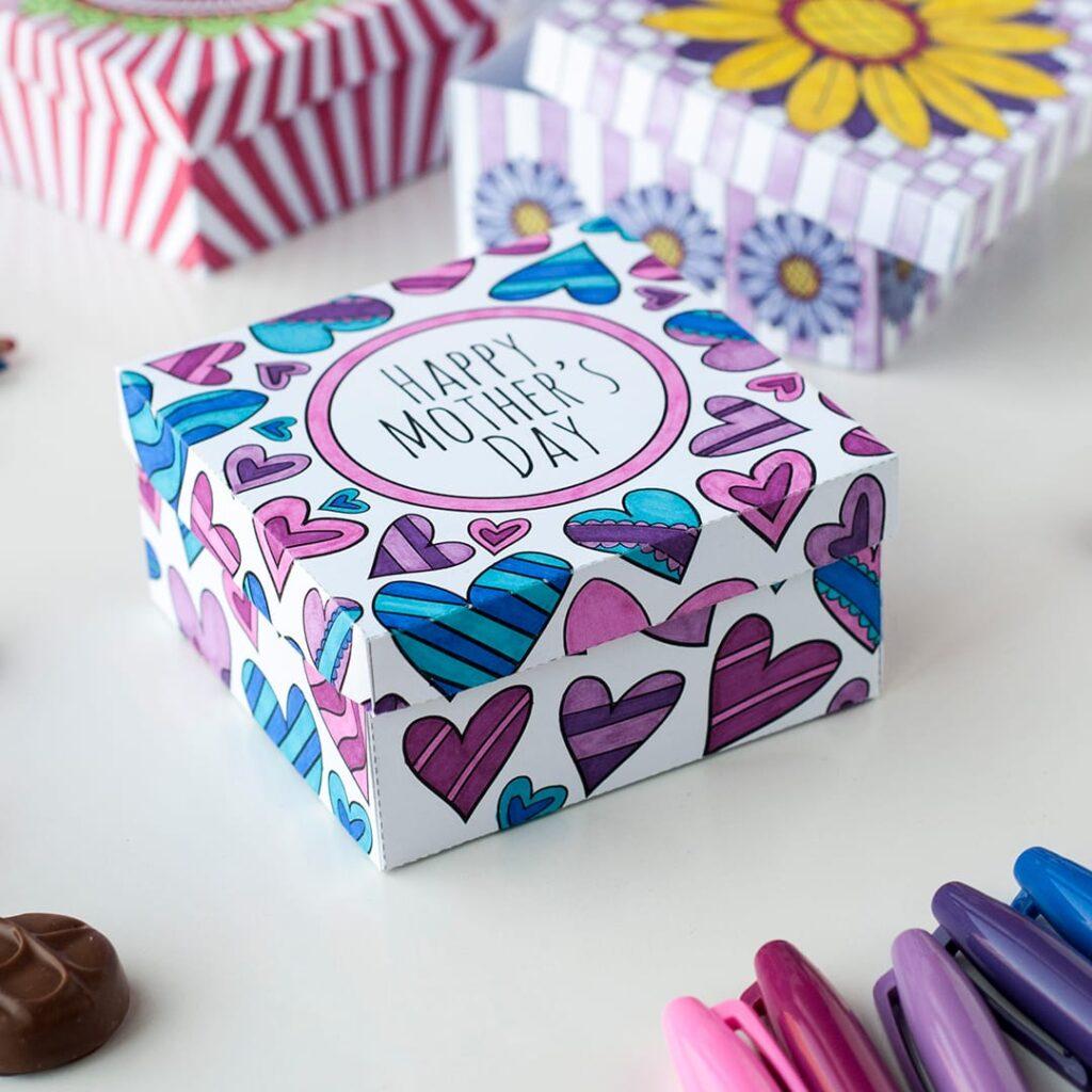 DIY-Muttertag-Geschenkbox-Bastelarbeiten-für-Erwachsene