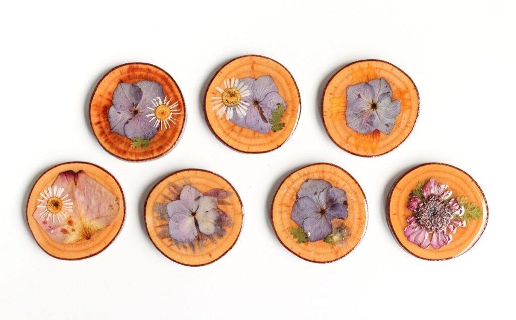 Trockenblumen-Untersetzer-Geschenk-für-Mama