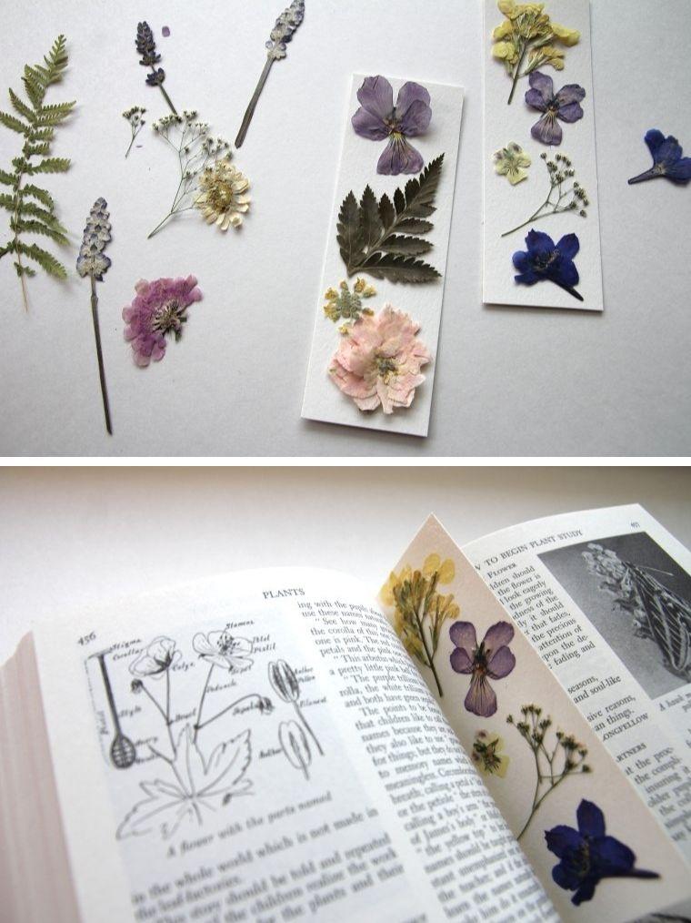 Muttertag-Erwachsene-Handwerk-gepresste-Blumen-Lesezeichen