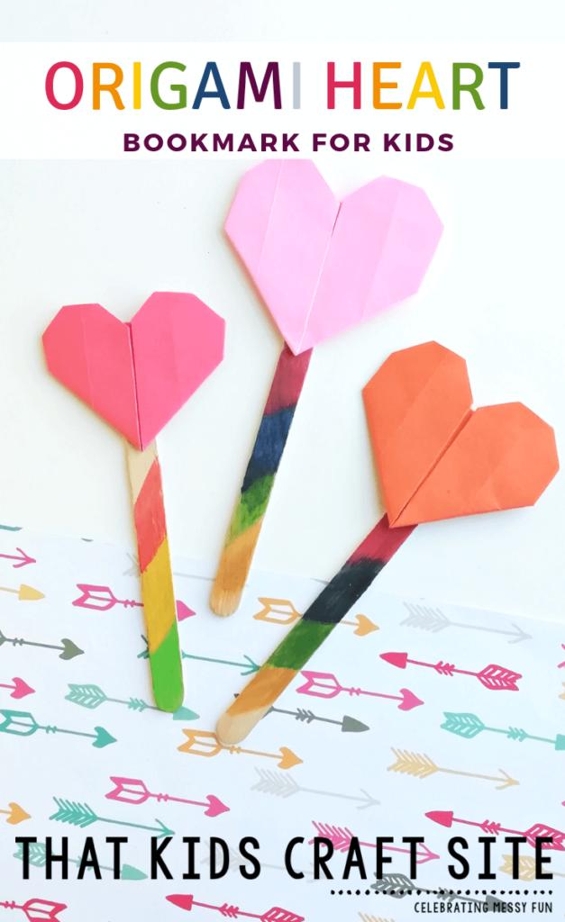 Origami-Herz-Lesezeichen-für-Kinder
