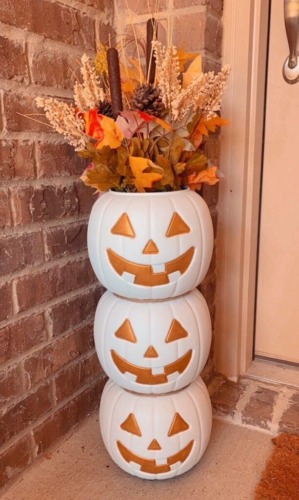 DIY White Pumpkin Decor