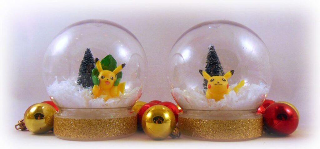 diy pikachu pokemon snowglobe