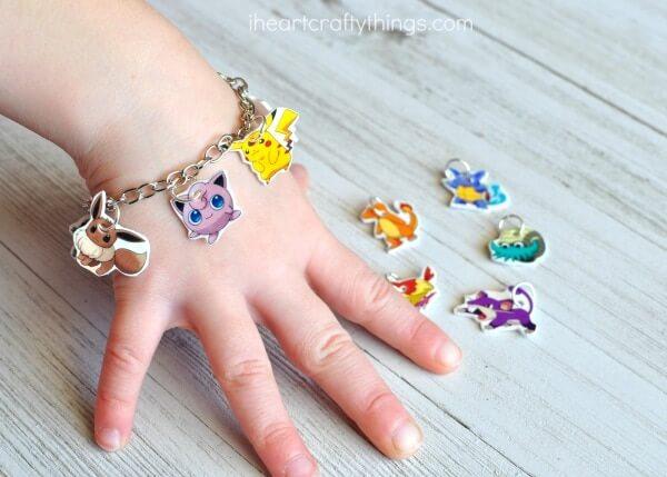 diy pokemmon charm bracelet