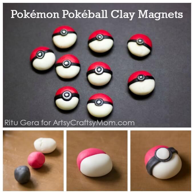 diy pokemon clay magnets