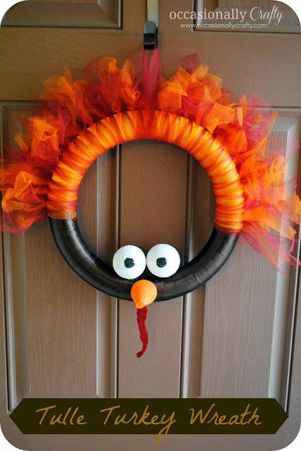 diy tulle turkey wreath