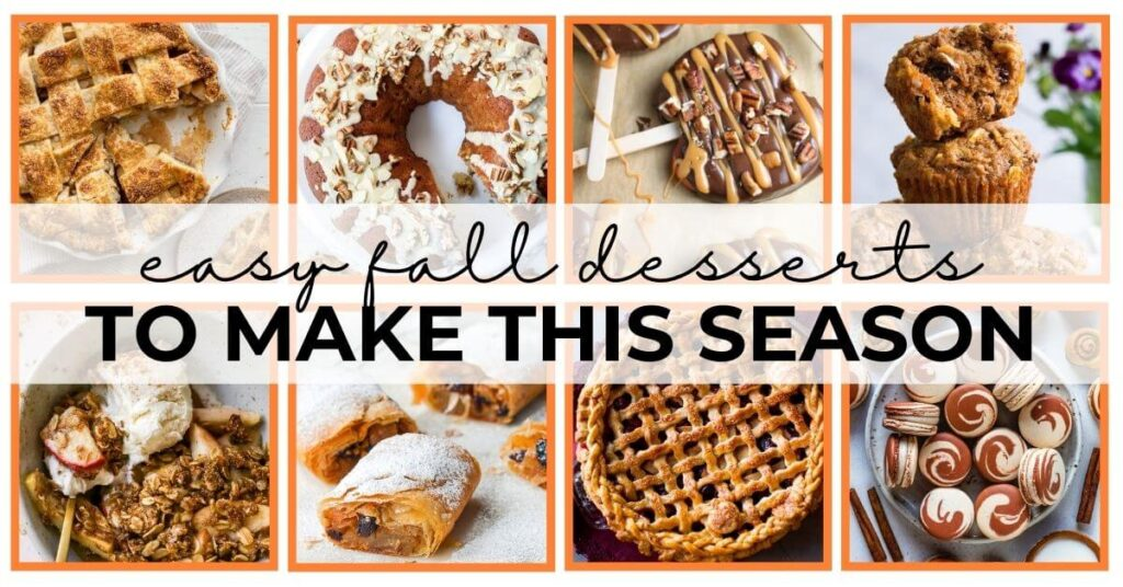 easy fall desserts feature