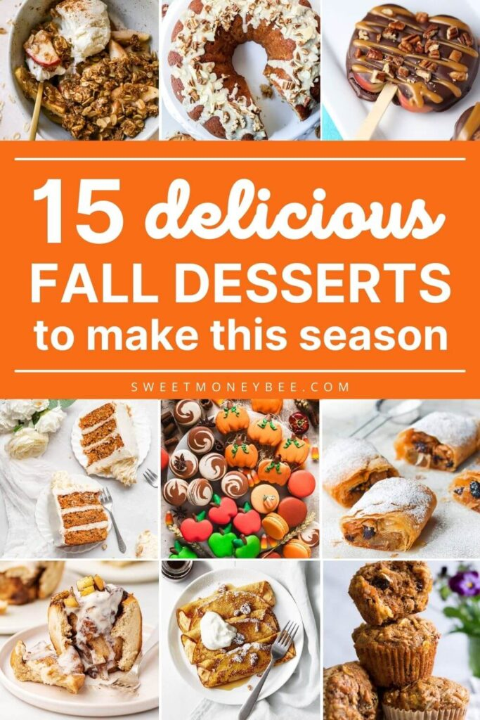 easy fall desserts pin