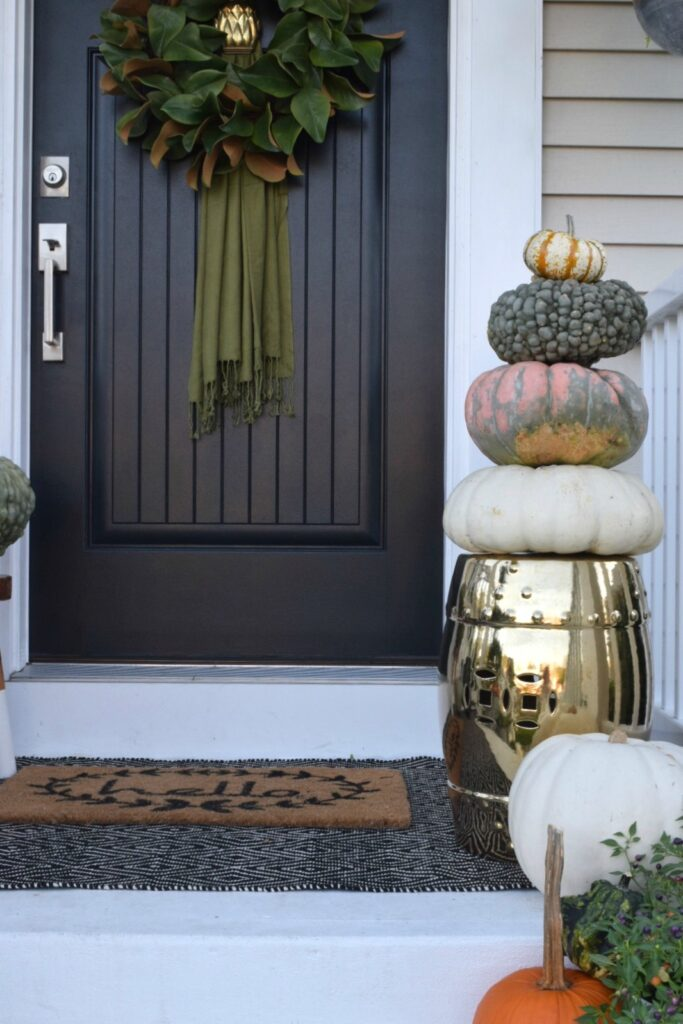fall front porch decoration outdoor idea