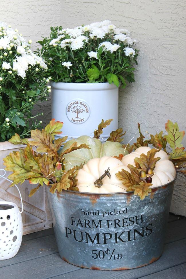 fall pumpkin basket fall decor outdoor