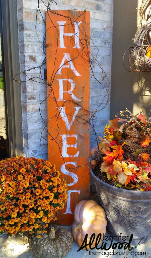 outdoor decor fall harvest sign
