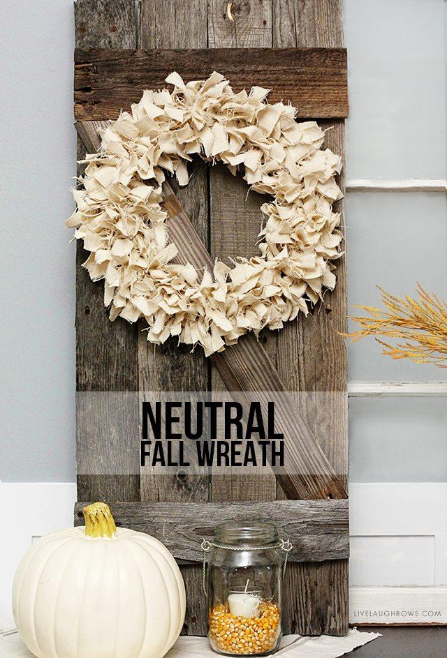outdoor fall wreath decor