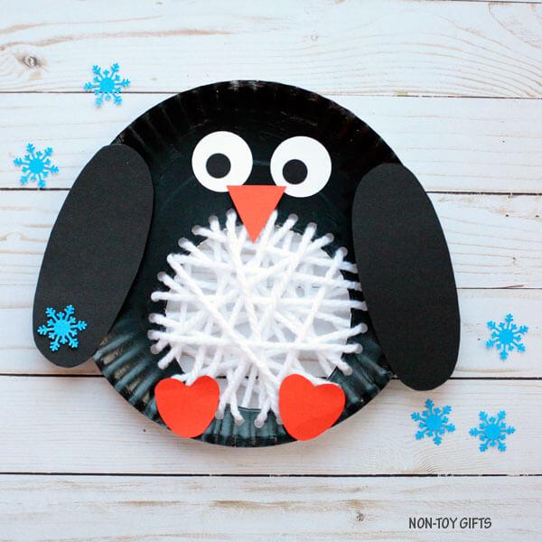 penguin crafts paper