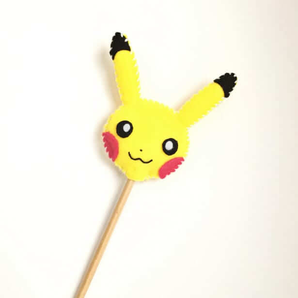 pikachu felt pencil topper