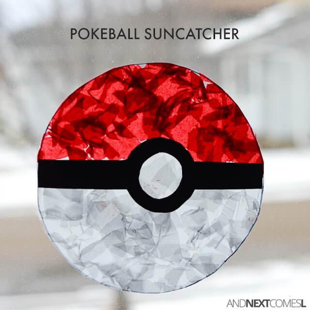 pokeball sun catcher craft