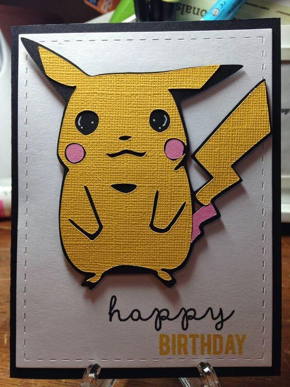 pokemon birthday card craft