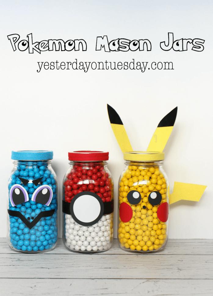 pokemon crafts mason jar