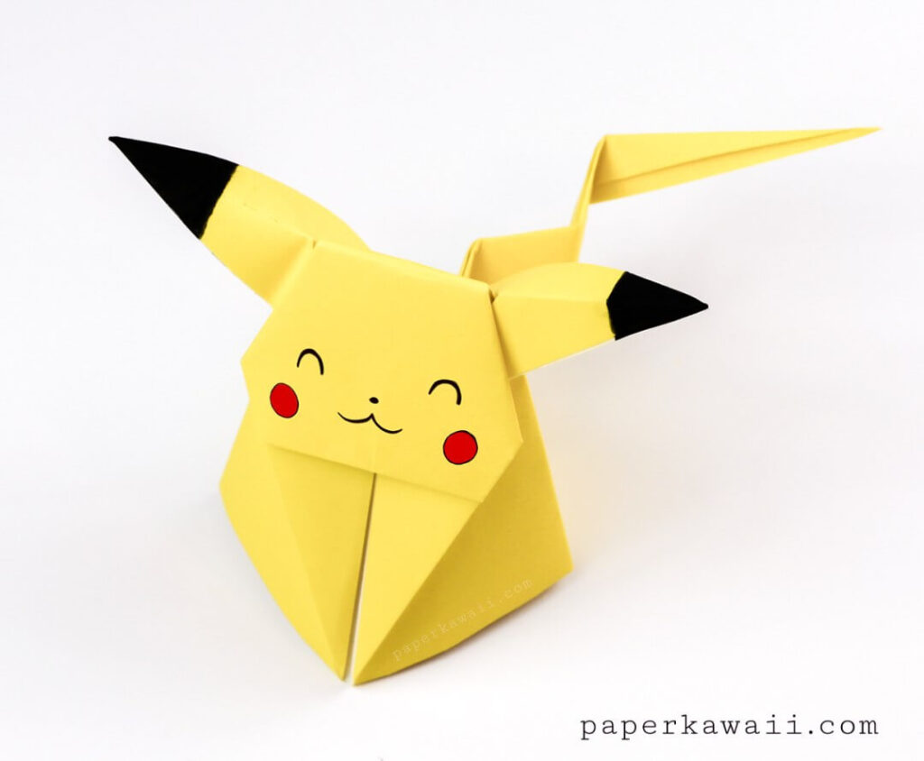 pokemon origami paper craft