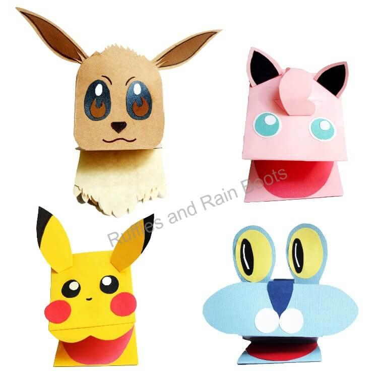 pokemon paper puppet crafts