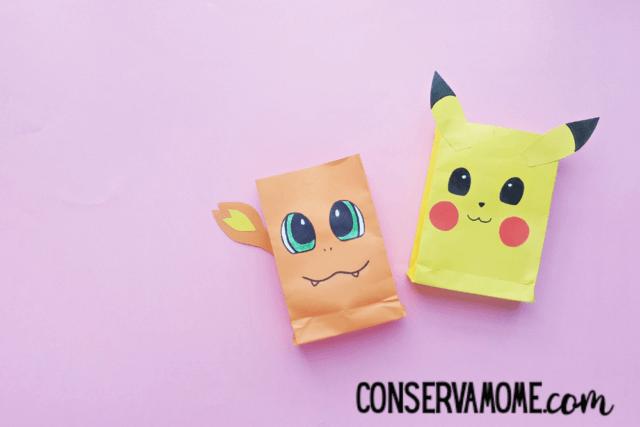 pokemon paperbag craft