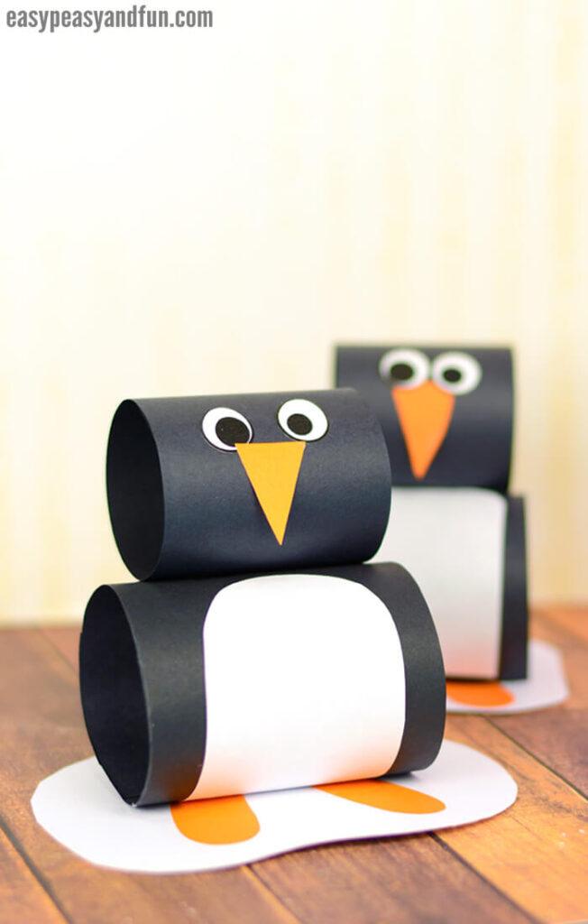 roll paper penguin craft
