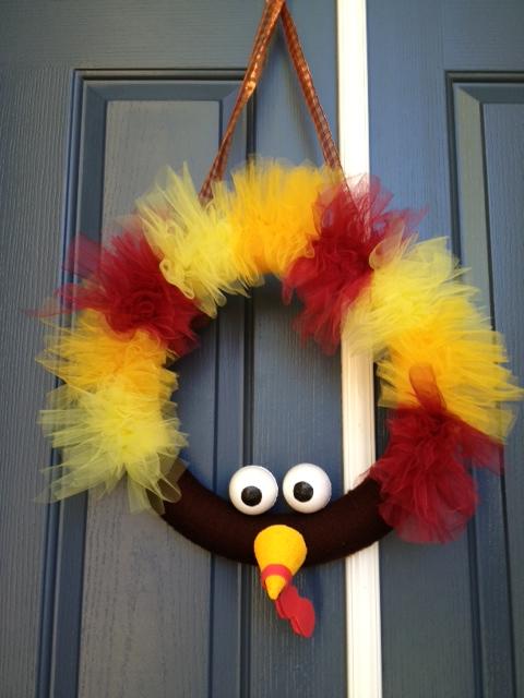 simple turkey wreath