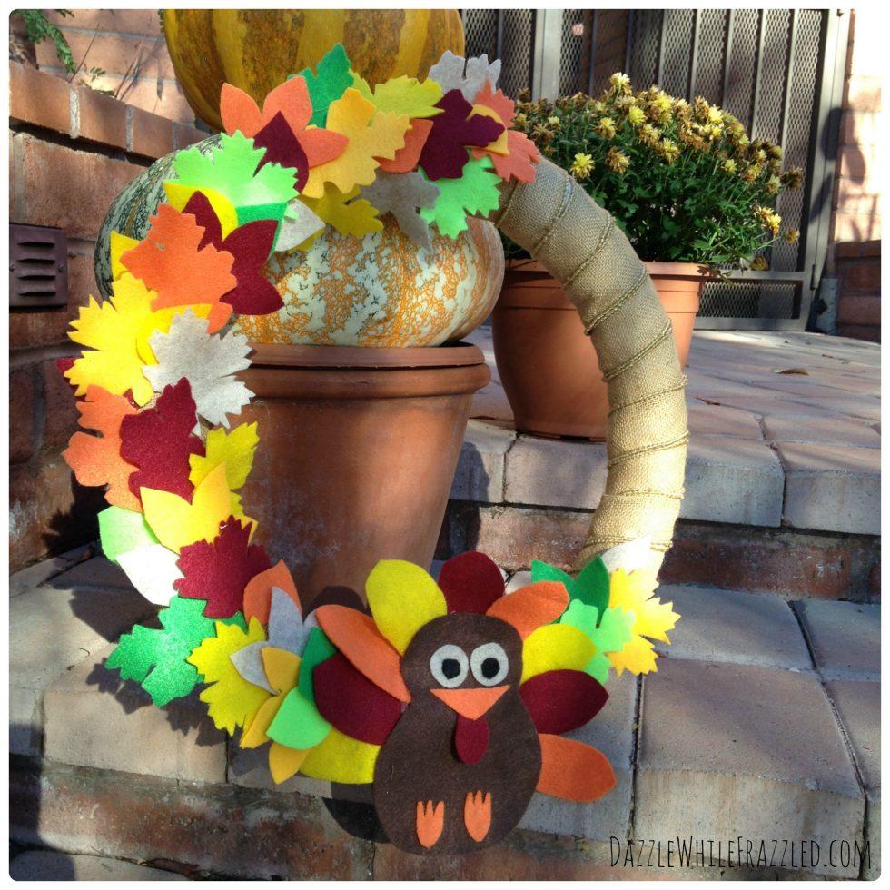thanksgiving turkey wreath with legs