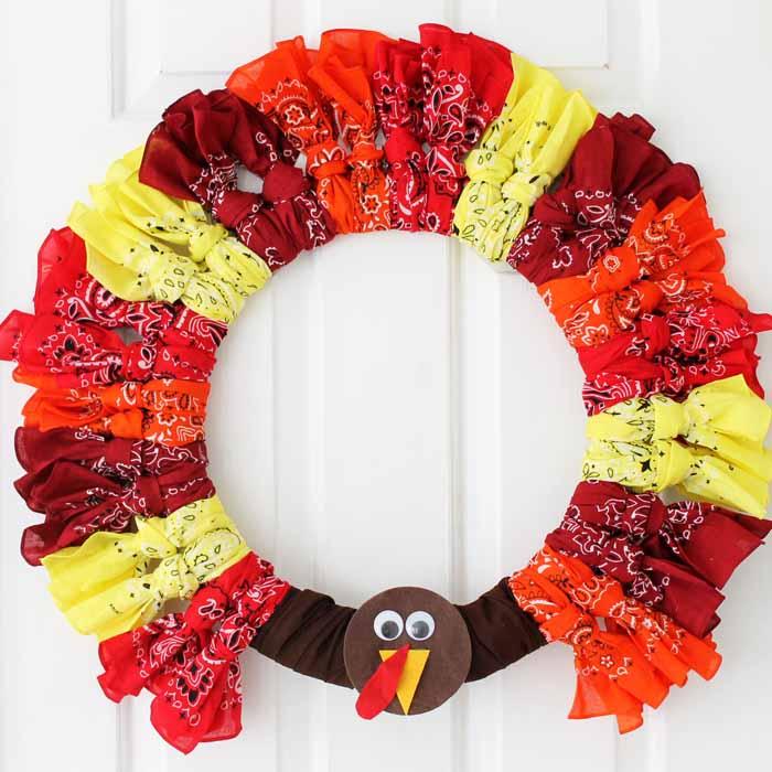 turkey wreath bandannas