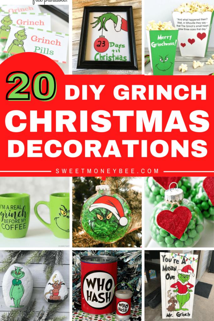 DIY Grinch Christmas Decorations Pinterest