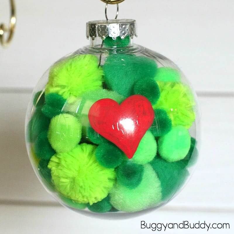Grinch Ornament Kids Craft