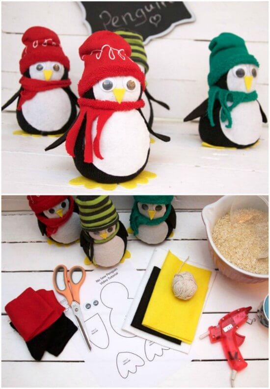 No-Sew-Sock-Penguin-Craft-Tutorial