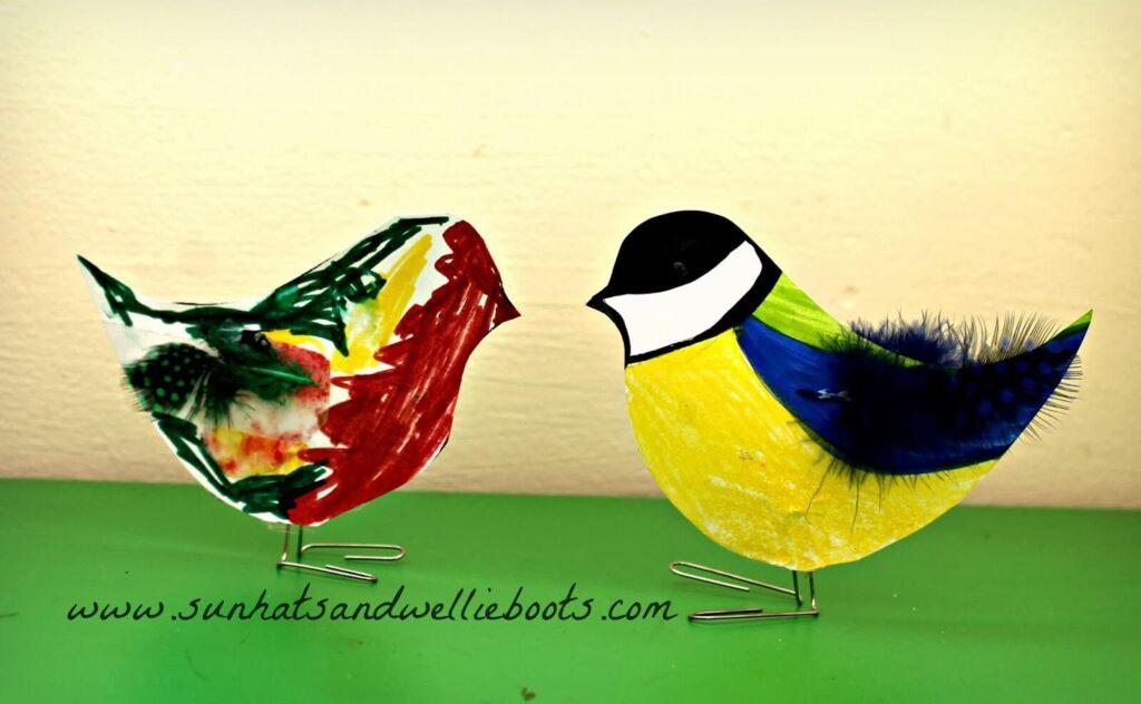 bird paperclips craft