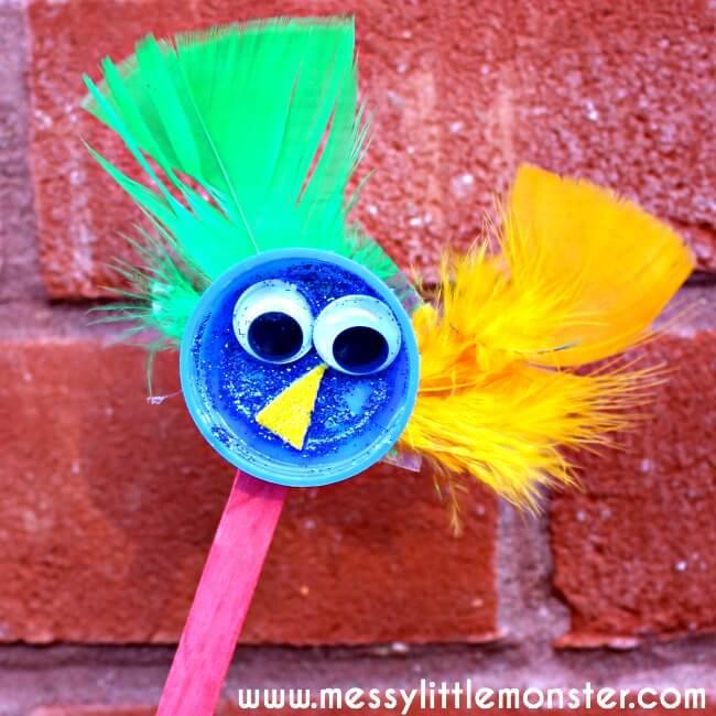bird puppet kids craft