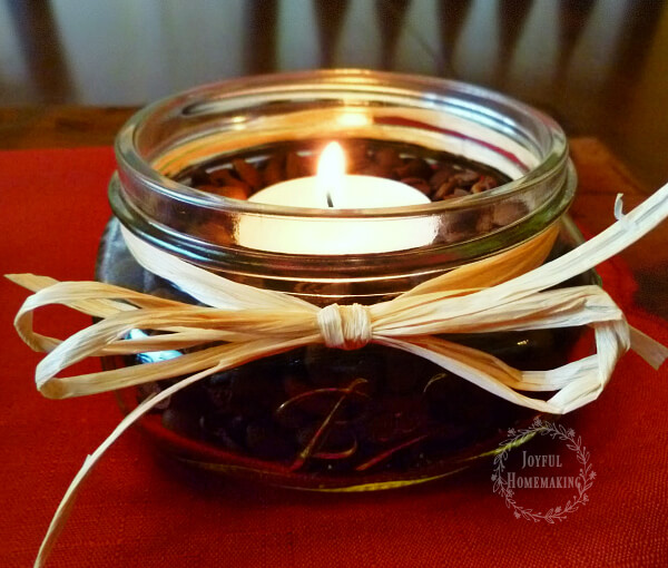 coffee bean candles craft