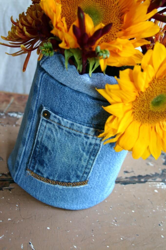 coffee can craft flower vase